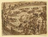 Recto: Whale Hunt by the Emperor Claudius in the harbour at Ostia