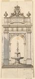 Design for a Fountain in the Garden of the Palazzo Quirinale, Rome, Italy