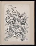 Winged Griffin on a Rocaille Bracket, Première Partie divers Ornements (Various Ornament Designs, Part One)