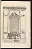 Design for Wainscoting with a Mirror and a Console Table