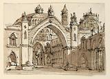 Stage Design, Exterior of Gothic Church