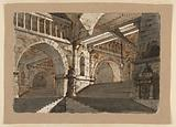 Stage Design, Underground Stairways and Galleries of a Fortified Palace