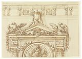 Design for the East Portal, Grand Gallery, Villa Albani, Rome, Italy