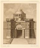 Gate with Papal Arms