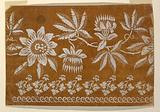 """Design for an Embroidered or Woven Horizontal Border of the """"Fabrique de St Ruf"""""""
