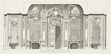 Vüe de Même (Czartoryski) Sallon du Costé des Glacés (Design for the Salon Czartoryski), in Oeuvres de Juste-Aurèle Meissonnier (Works by Juste-Aurèle Meissonnier)