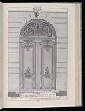 Profil de deux Venteaux de la porte Cochere (Profile of Two Venteaux of a Carriage Door), Livre de Portes Cocheres (Book of Carriage Doors)