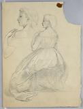 """Study of Seated Woman for """"Titian Showing the Entombment to Charles V and Clement VII"""""""