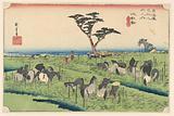 Chiryu, The Horse Fair, in The Fifty-Three Stations of the Tokaido Road (Tokaido Gojusan Tsugi-no Uchi)