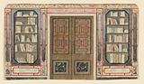 Design for Doorway and Bookcase, probably for King's Library, Royal Pavilion, Brighton