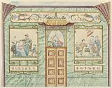 Wall Elevation with Panels of Chinese Figures, for King's Library, Royal Pavilion, Brighton