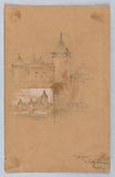 Two Sketches of Morges, Lake Geneva