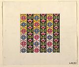 Geometric design for printed textile