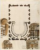 Ground Plan and Elevations of Theater Boxes, Probably for the Teatro del Versaro (later Morlacchi), Perugia, Italy