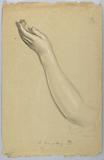 """Study of Left Hand for """"Lesson of Charity"""""""