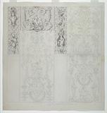 Cartoon for Printed Cotton: The Four Elements (Les Quatre Elements)