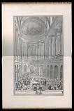 Cérémonie du Mariage de Louis Dauphin de France avec Marie Thérèse Infante D'Espagne dans la Chapelle du Château de Versailles le XXIII Février M D CCXLV