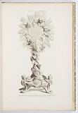 Frontispiece, Soleil executé en argent pour les religieuses Carmelites de Poitiers en 1727, Livre d'Orfeverie d'Eglise, Treisieme Livre des Oeuvres de J A Messionnier