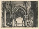 Stage Design, View from Palace in Venice