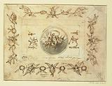 Design for Ceiling with Aurora as the Central Motif