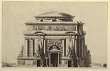 Elevation of a Mausoleum for a Soldier (Temple of Mars)
