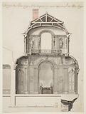 Preliminary Design for the Salon d'Angle at the Palais Royal, Paris, France