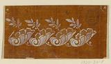 """Design for an Embroidered or Woven Border of the """"Fabrique de St Ruf"""""""