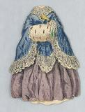 Paper Doll Costume with Muff and Blue Cloak