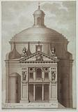 Elevation of a Domed Chur