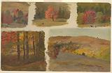 Five Studies of Autumn Landscape, possibly Vermont