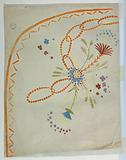 """Design for the Embroidery of a Lady's Overskirt of the """"Fabrique de St Ruf"""""""
