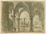 Stage Design, Portico with Buildings