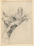 Design for a Sculpture of a Prophet Beside an Arch