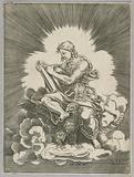 Saint John, writing, seated on an Eagle