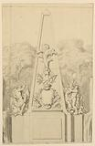 Design for a Monument Flanked by Fountains