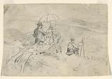 """Study for """"Artists Sketching in the White Mountains"""" and """"The Artist in the Country"""""""
