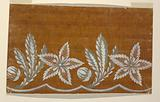 "Design for an Embroidered or Woven Horizontal Border of the ""Fabrique de St Ruf,"" Unfinished"