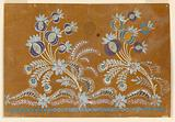 """Design for an Embroidered Horizontal Border of the """"Fabrique de St Ruf,"""" Unfinished"""