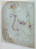 """Design for the Embroidery of the Lower Front Part of an Overskirt of the """"Fabrique de St Ruf,"""" Unfinished"""