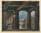 Stage Design, Classical Loggia and Courtyard