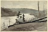 Mountain River or Lake