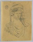 Sketch of Bust of a Woman