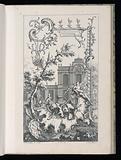 Cartouche with Hunting Motifs, Livre Nouveau de Morceaux de Fantaisie (New Book of Fantasy Pieces)