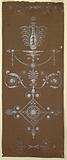 Design for Woven Fabric with Neoclassical Motifs