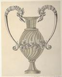 Design for a Crystal Urn with Silver Mounts