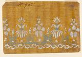 Design for an Embroidered of Woven Horizontal Border