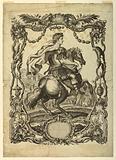 The Roman Emperor Vitellius, in escutcheon