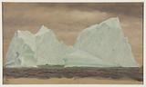 Icebergs Under Cloudy Skies