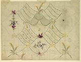 """Design for Embroidered Floral Motifs of the """"Fabrique de St Ruf"""""""