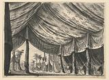 """Stage Design, Tent of Genghis Khan, for the Ballet """"Genghis Khan"""" by Luigi Henry"""